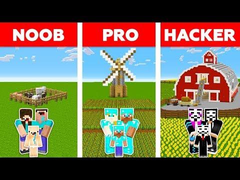 Minecraft NOOB vs PRO vs HACKER : FAMILY FARM CHALLENGE in minecraft / Animation