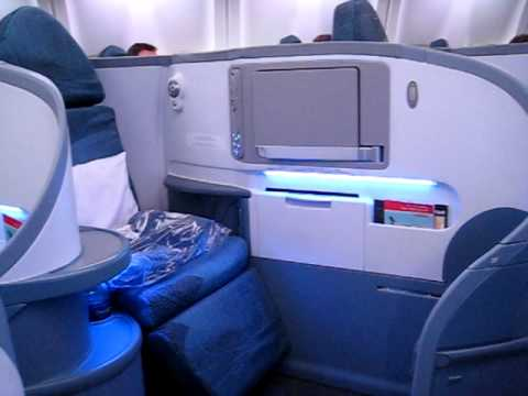 Tour of Air Canada 767-300 Business Class 'cubicle'