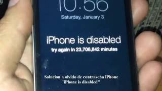 Solucion olvido contraseña iPhone 4/4s ----- How to Unlock/Fix a Disabled iPhone