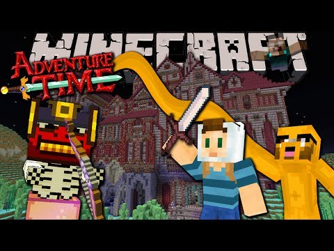 Minecraft: Adventure Time with Jake! Herobrine's Mansion Map - Ep.1 Halloween Special