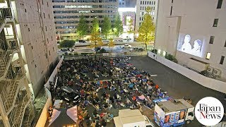 Film fans snuggle up for sleeping bag cinema - The Japan News