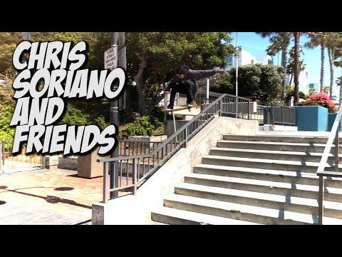 CHRIS SORIANO & NEW SKATERS ALL DAY SKATING !!! - NKA VIDS -