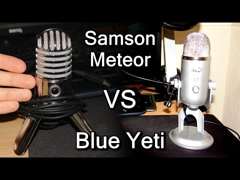 Microphone Test - Samson Meteor VS Yeti Blue