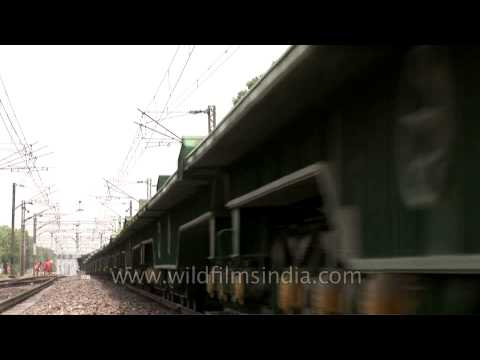 Only trained camera-person should try this risky shot - Indian Railway train