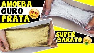 Como fazer AMOEBA OURO E PRATA ( slime gold silver) | TIO LUCAS