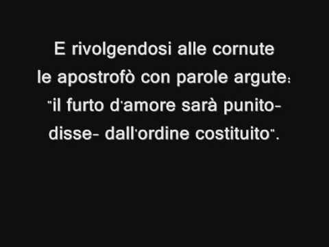 Bocca di rosa - Fabrizio De Andrè - lyrics testo