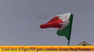 Grand entry pf Ogun PDP guber candidate, Sen Buruji Kashamu