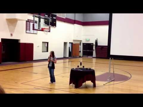 Soroco High School  Senior Send Off 2013 Second Chance by Shinedown Cover by Hayley Johnson
