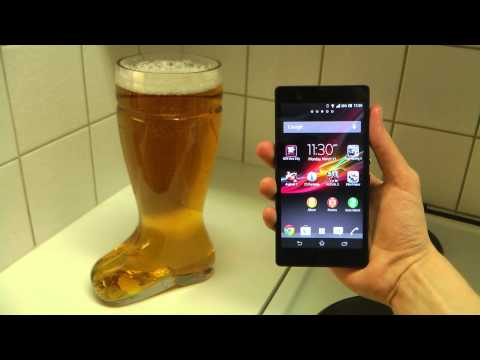 Sony Xperia Z Review - Das Beer Boot Test