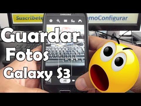como guardar las fotos automaticamente micro sd samsung Galaxy S3 i9300 español