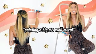 painting a big a$$ wall mural  // EXTREME MAKEOVER EPISODE 2