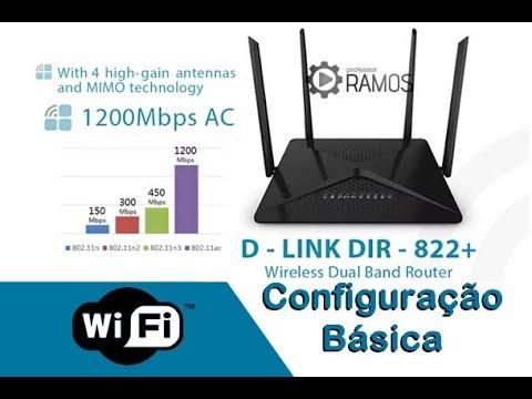 📶 Configuração Básica Roteador D-LINK DIR 822+ 1200Mbps 🌟Análise - Review