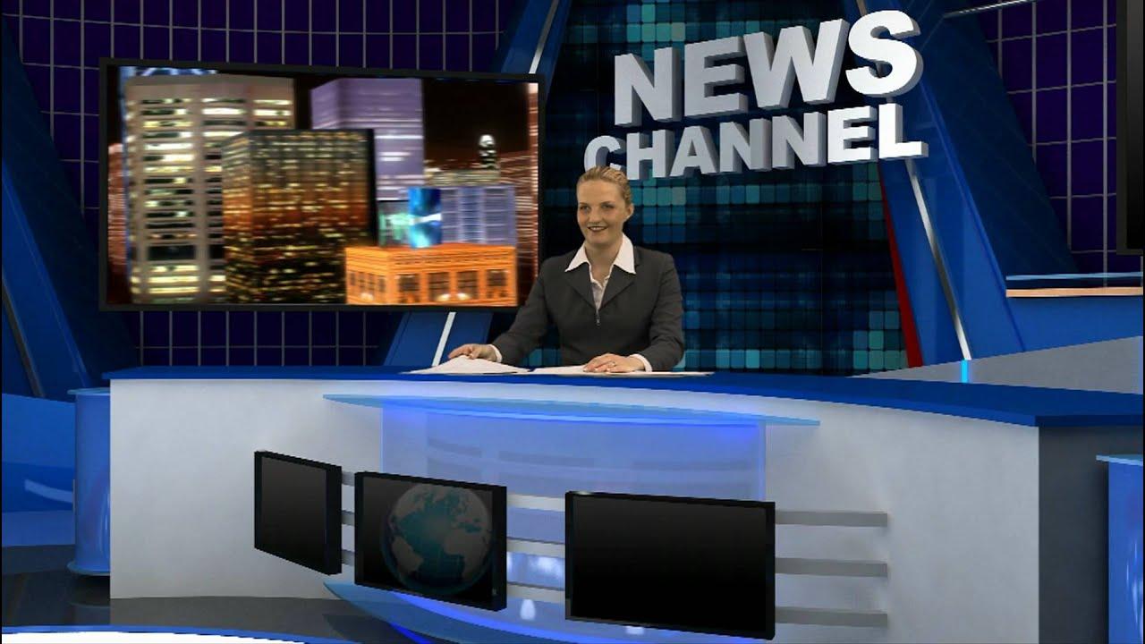 Virtual Reality Set News Background Demo Youtube