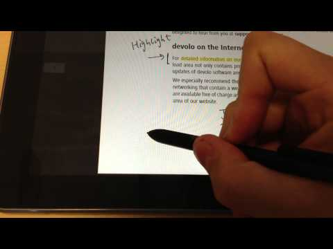 Windows 8 Metro Pdf Reader App Review On Samsung Ativ 500t Tablet video
