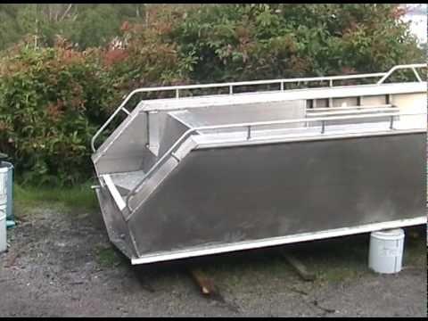 aluminium plate boat fabrication and welding - YouTube