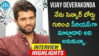 Vijay Deverakonda Exclusive Interview Highlights | Frankly With TNR | iDream Telugu Movies