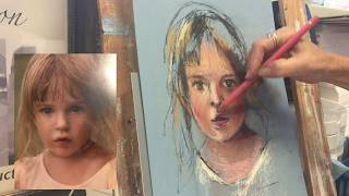 Pastel Portrait Demo 2 - Heather (High Speed Version)