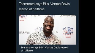 Vontae Davis Retires At Halftime During Bills vs Chargers