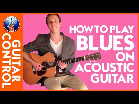 Acoustic Blues Lesson - acoustic blues guitar lesson for beginners