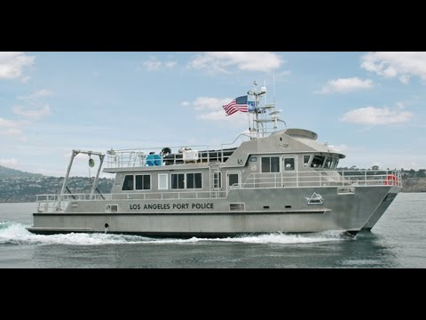 Los angeles port police patrol catamaran aluminum work for La port police