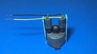 Experiment small motor as Generator driver