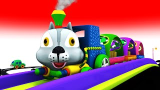 Bunny The Animal Train - Toy Factory Choo Choo Cartoon for Kids - Trains Cartoon