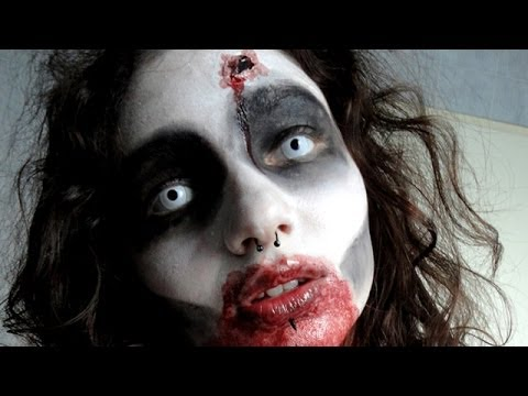 easy zombie make up maquillage de zombie facile youtube. Black Bedroom Furniture Sets. Home Design Ideas