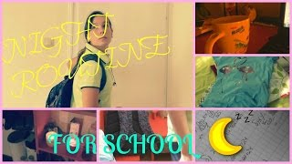 Night routine for school 2015