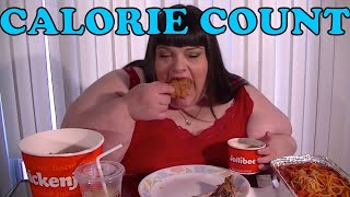 Mukbang Calories - Hungry Fat Chick Jollibee Mukbang Eating Show