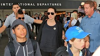 Angelina Jolie, Brad Pitt And Family Arrive At LAX, Part 2