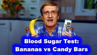Blood Sugar Test: Bananas vs Candy Bars