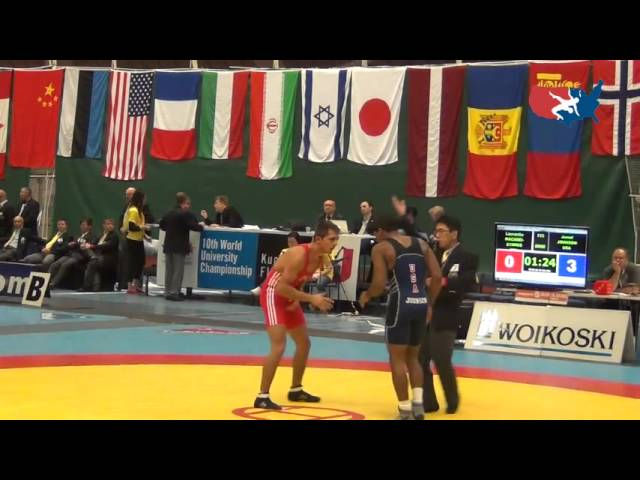 2012 UNIV WORLDS: Johnson (USA) dec. Macarei (ROU), 60 kg Greco bronze bout