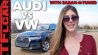 2018 Audi Q7 vs VW Atlas: Flying Business Class or Economy?