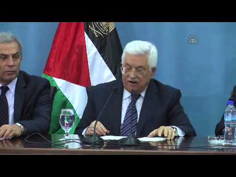 Palestinian President Mahmoud Abbas' press conference