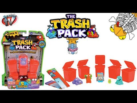 The Trash Pack Series 4. 5 Pack Toy Review. Moose