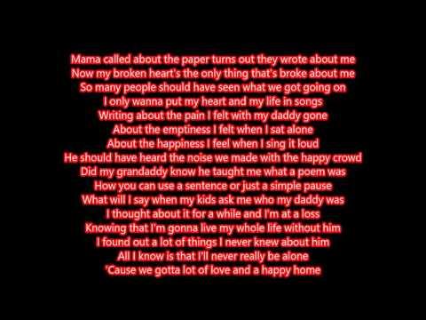 Happy Home - Lukas Graham (lyrics)