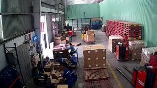 Pallet 0146vn chờ VAS cân hàng phát hiện thùng rỗng 20.03.2018