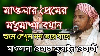মাওলার প্রেমের এক মধুমাখা বয়ান শুনলে মনটা ভরে যাবে- Maulana Belal Hussain Belali Mobile- 01685989811
