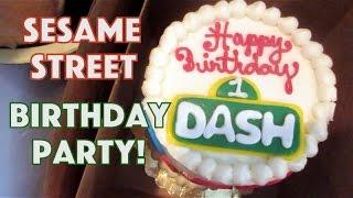 SESAME STREET THEME FIRST BIRTHDAY PARTY IDEAS * abeeutifulife * vlog