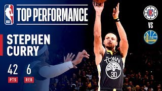 Stephen Curry Drops 42 POINTS in Clutch Performance Against The Clippers | December 23, 2018