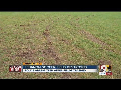Lebanon Sports Complex soccer fields torn up by vandal