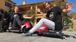 Corey vs Capron Toy drift cart battle! (LIVESTREAM)
