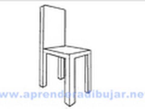 Como dibujar una silla en perspectiva dibujos de sillas - Materiales para tapizar una silla ...