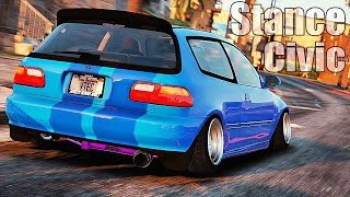 Grand Theft Auto V - Customizing [Honda Civic Stance] and Racing [MOD] GTAV