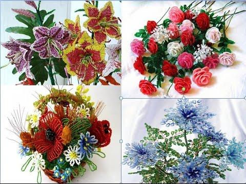 Цветы из бисера какие цветы можно сплести из бисера разные и любимые множество креативных идей своими руками...