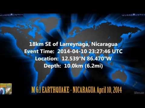M 6.1 EARTHQUAKE - NICARAGUA April 10, 2014