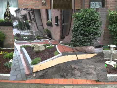 Unser neuer vorgarten youtube for Zierkies vorgarten