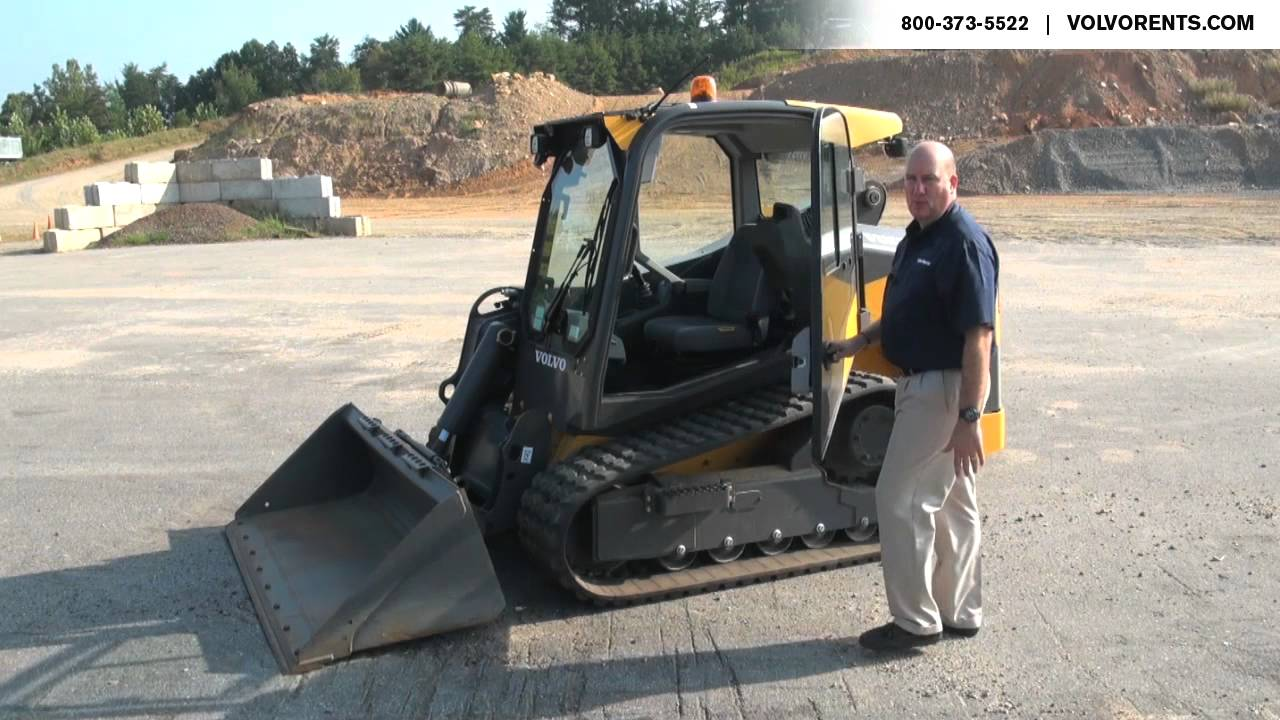 Volvo MCT135C Tracked Skid Steer - Safety Features - YouTube