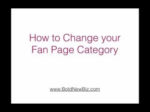 How To Change Fan Page Category on Facebook