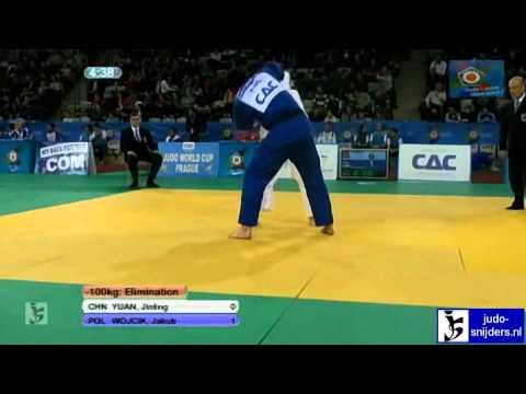 Judo 2012 world cup prague yuan chn  wojcik pol 100kg